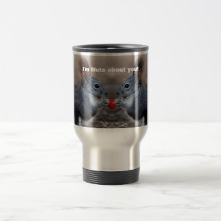Funny Valentine Day Squirrels Travel Mug