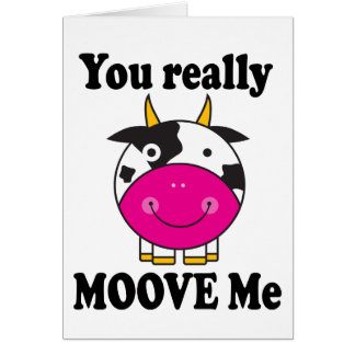 Funny Valentine Moove Me Cow Gift Greeting Card