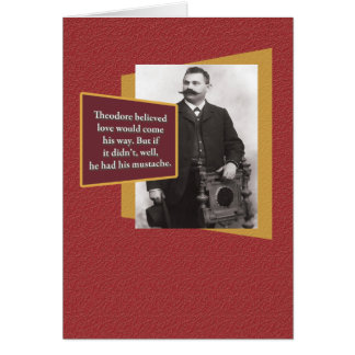 Funny Valentine: Strange Mustache Guy Card