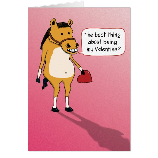 Funny Valentine's Day Card: Horseplay Card