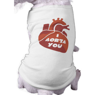 Funny Valentine's Day Gift Sleeveless Dog Shirt