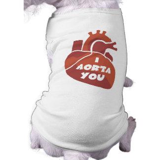 Funny Valentine's Day Gift Sleeveless Dog Shirt