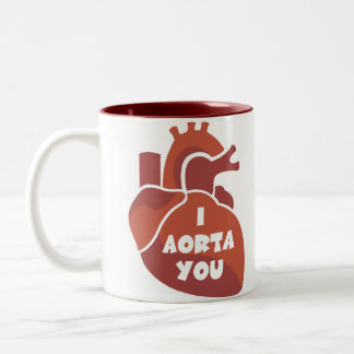 Funny Valentine's Day Gift Two-Tone Coffee Mug