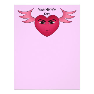 Funny Valentine's day heart with wings 21.5 Cm X 28 Cm Flyer