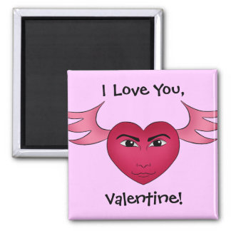 Funny Valentine's day heart with wings Refrigerator Magnet
