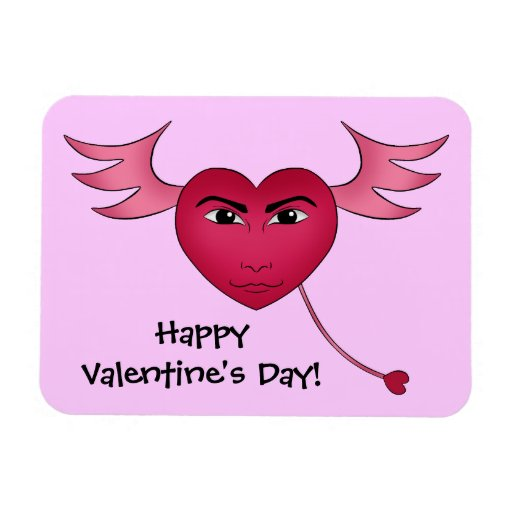 Funny Valentine's day heart with wings Magnet