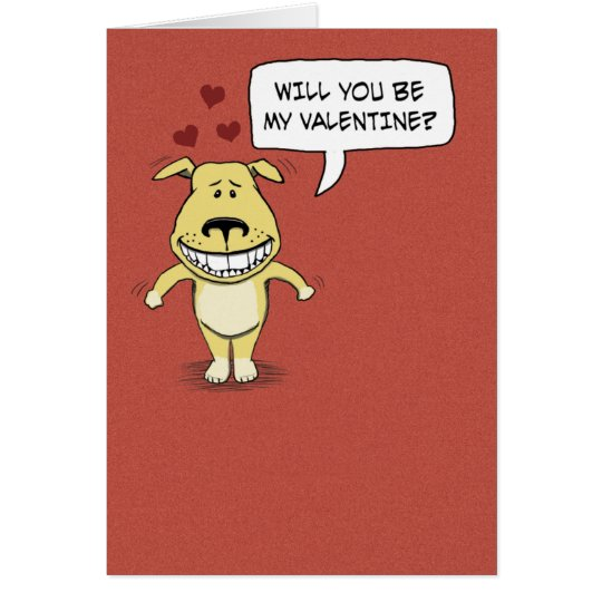 Funny Valentine's Day: Hump Your Leg Card