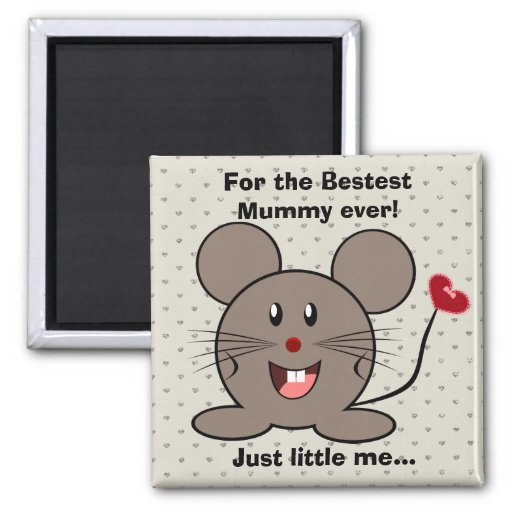 Funny Valentines Day Mouse Refrigerator Magnet