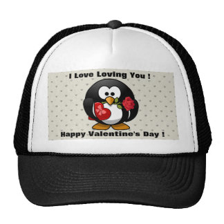 Funny Valentines Day Penguin Hat