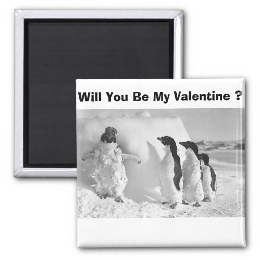 Funny Valentines Day Penguin Refrigerator Magnets