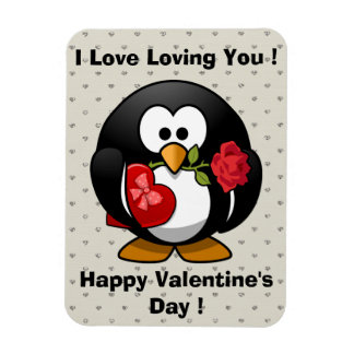 Funny Valentines Day Penguin Magnet
