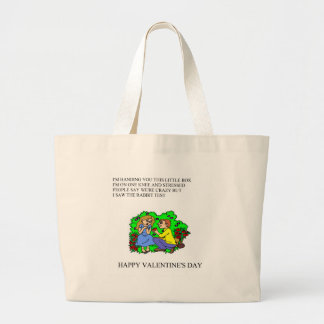 funny valentine's day poem canvas bag