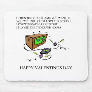 funny valentine's day poem mouse pad