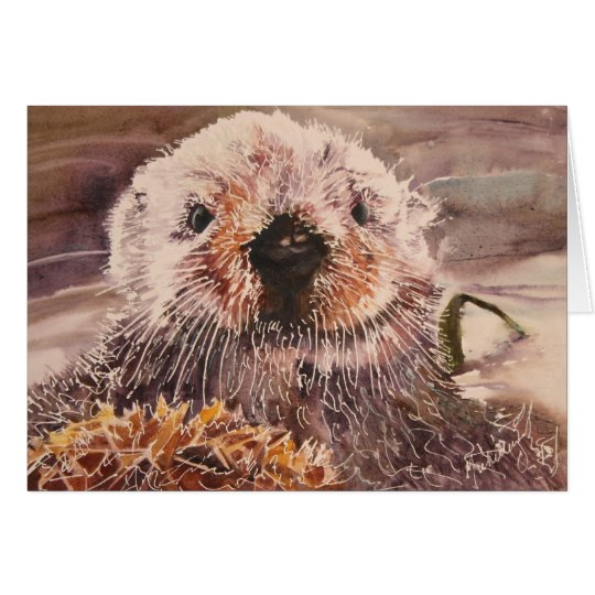 Funny Valentine's Day Sea Otter Significant Otter Greeting Card