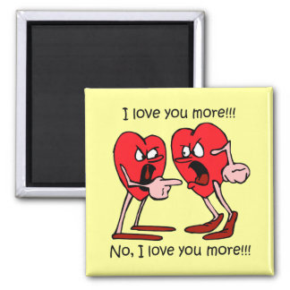 Funny Valentine's Day Square Magnet