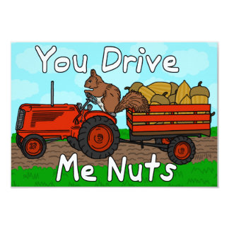 Funny Valentine's Day Squirrel Pun Kids Classroom 9 Cm X 13 Cm Invitation Card