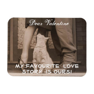 Funny Valentines Day Vintage Picture Rectangular Magnets