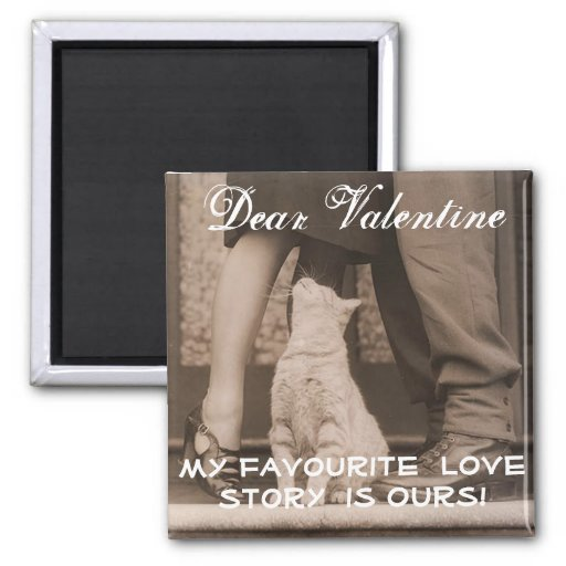 Funny Valentines Day Vintage Picture Magnet