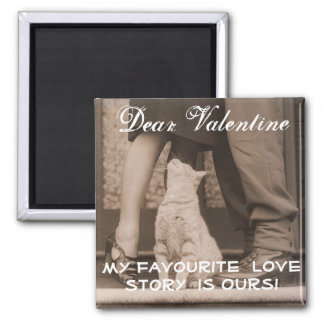 Funny Valentines Day Vintage Picture Square Magnet