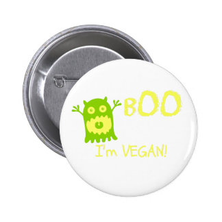 Funny Vegan Halloween Button