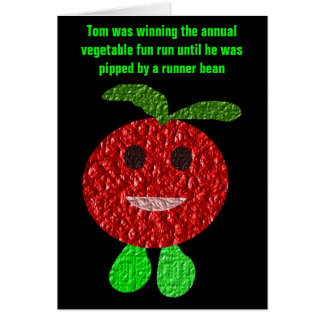 Funny Vegetable Greeting Card