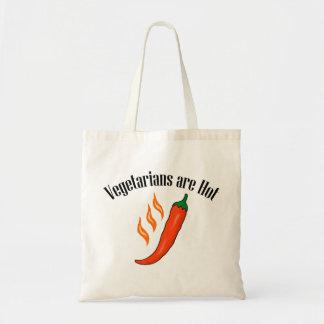 Funny Vegetarian Tote Bag Vegetarians are Hot Bag