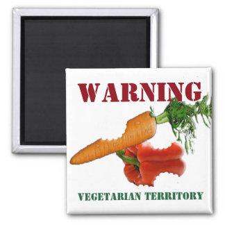 Funny Vegetarian / Vegan Territory Magnet