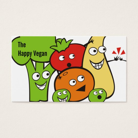 funny veggies fruits high five cooking biz cards