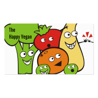 funny veggies fruits high five cooking biz cards pack of standard business cards