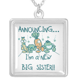 Funny Veggies New Big Sister Necklaces