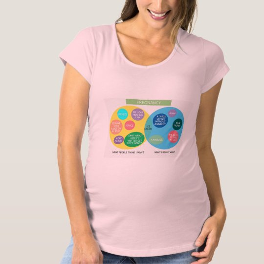 Funny Venn Diagram Maternity Shirt