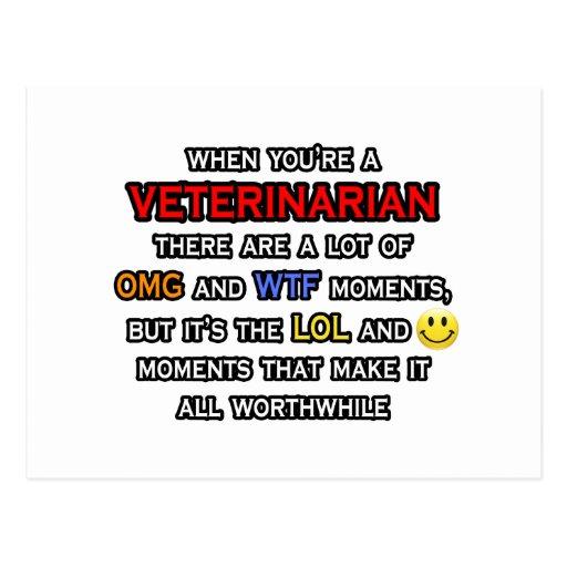Funny Veterinarian ... OMG WTF LOL Post Cards