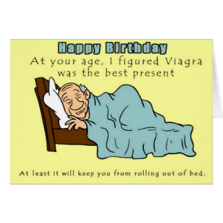 Funny Viagra Birthday Card