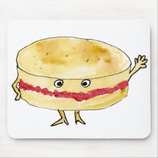 funny Victoria sponge cake foodie art mouse mat