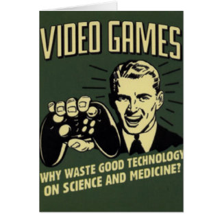 Funny Video Game Saying Card