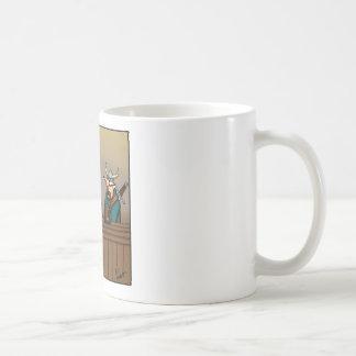 Funny Viking Drinking Cartoon Basic White Mug