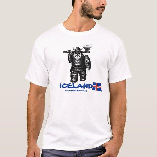 Funny viking Iceland t-shirt design