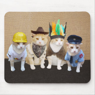 Funny Village Cats Mouse Mat
