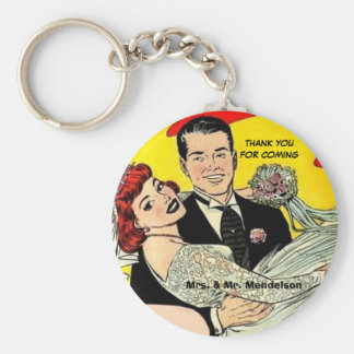 Funny vinatge wedding favors key ring