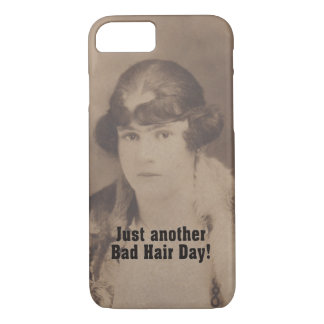 Funny Vintage 1920 Bad Hair Day iPhone 7 Case