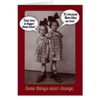 Funny Vintage 1920s Older Sister Birthday Card