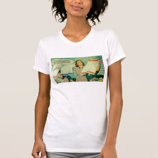 funny vintage 1950s laundry art woman's tee