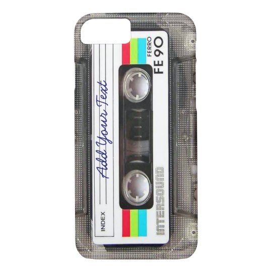 Funny Vintage 80s Retro Music Cassette Tape iPhone