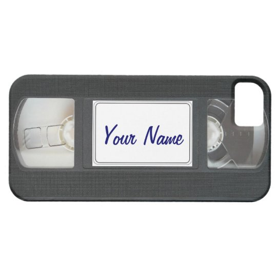 Funny Vintage 80s Retro VHS Cassette Tape iPhone iPhone 5 Cases
