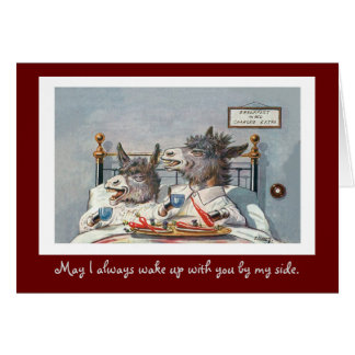 Funny Vintage Animal Valentine's Day Card