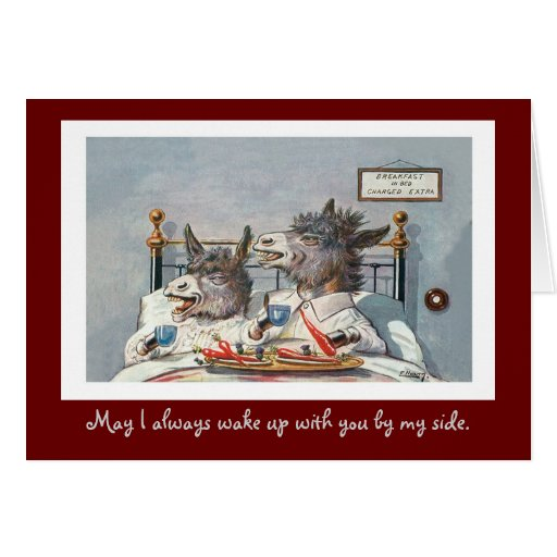 Funny Vintage Animal Valentine's Day Greeting Cards
