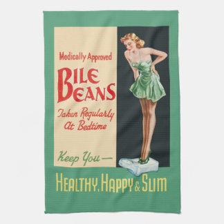 "Funny Vintage ""Bile Beans"" Advertisement Tea Towel"