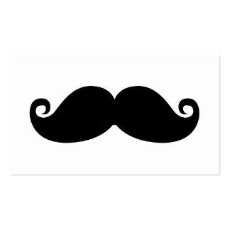 Funny Vintage Black Mustache Pack Of Standard Business Cards