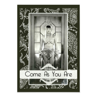 Funny Vintage Come As You Are Custom Party Card