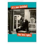 Funny Vintage Cop Birthday Rights